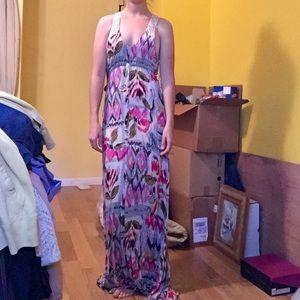 Lace-Backed Maxi Dress